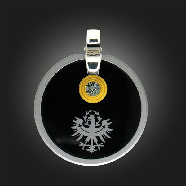 FORMschmuck-Silber Anhänger Kreis groß rund Tiroler Adler