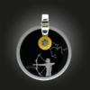 FORMschmuck-Silber Anhänger groß rund Sternzeichen Schütze