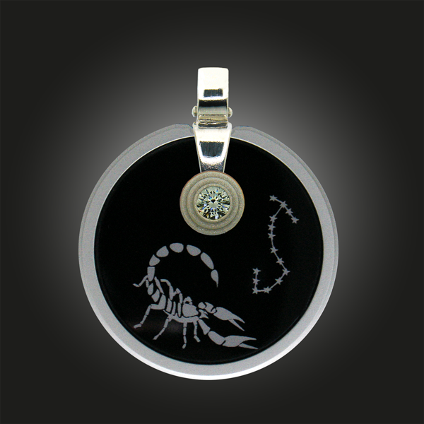 FORMschmuck-Silber Anhänger Sternzeichen Skorpion