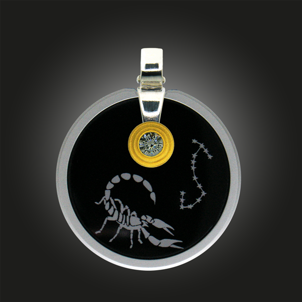 FORMschmuck-Sternzeichen Anhänger Skorpion