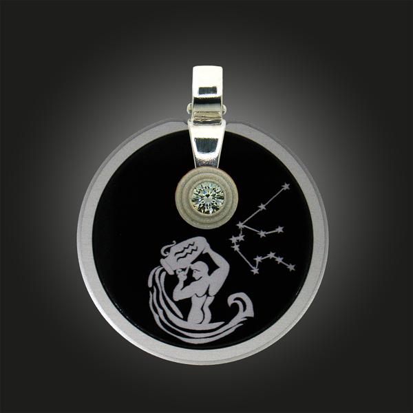 FORMschmuck-Kette mit Silber Anhänger Sternzeichen Wassermann