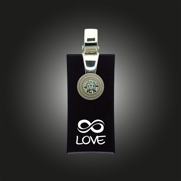 Kette mit Silber Anhänger rechteckig endless love