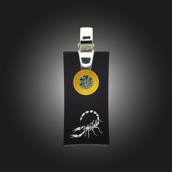 FORMschmuck-Sternzeichen Anhänger Skorpion rechteckig