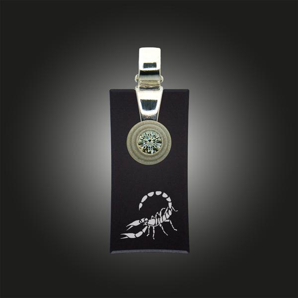 FORMschmuck-Silber Anhänger Sternzeichen Skorpion rechteckig
